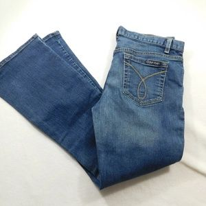Calvin Klein Flare Stretch Jeans Tag Size 10